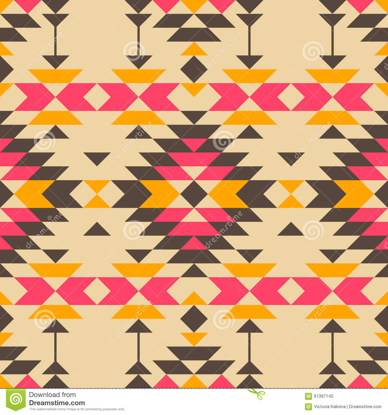 Native American Pattern Stock Vector - Image: 61397145
