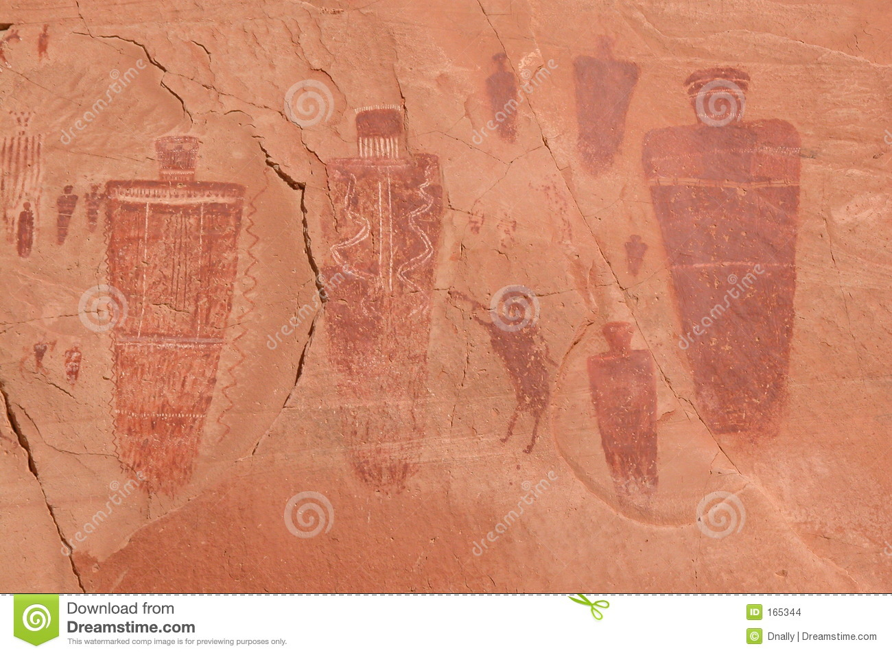 native american pictographs stock photo - image of america