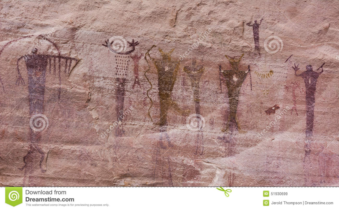 native american pictographs stock image - image of rafael, painted