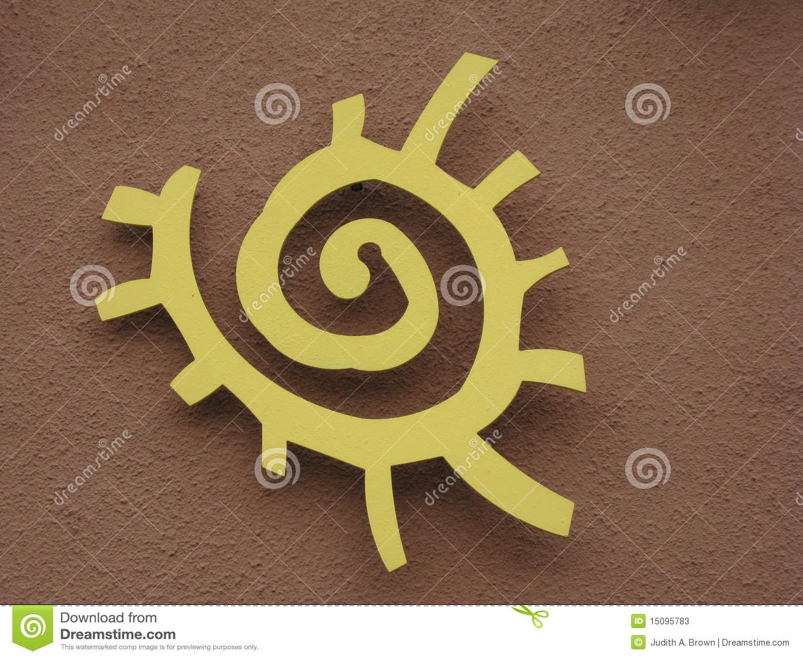 Native American Sun Symbol Stock Image Image Of Native 15095783