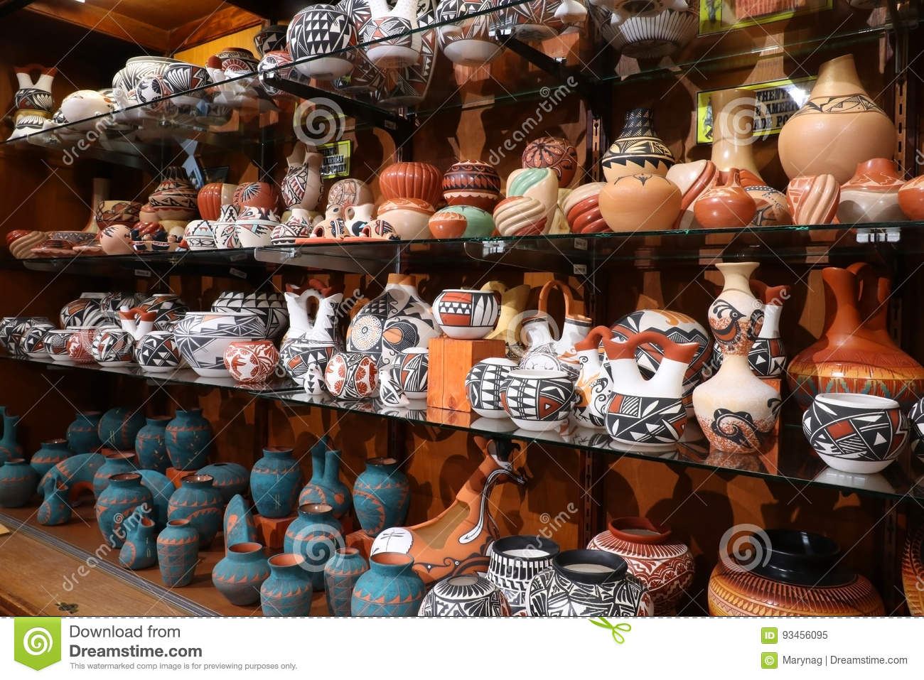 Native Americans Craft Gift Shop  Stock Image - Image of