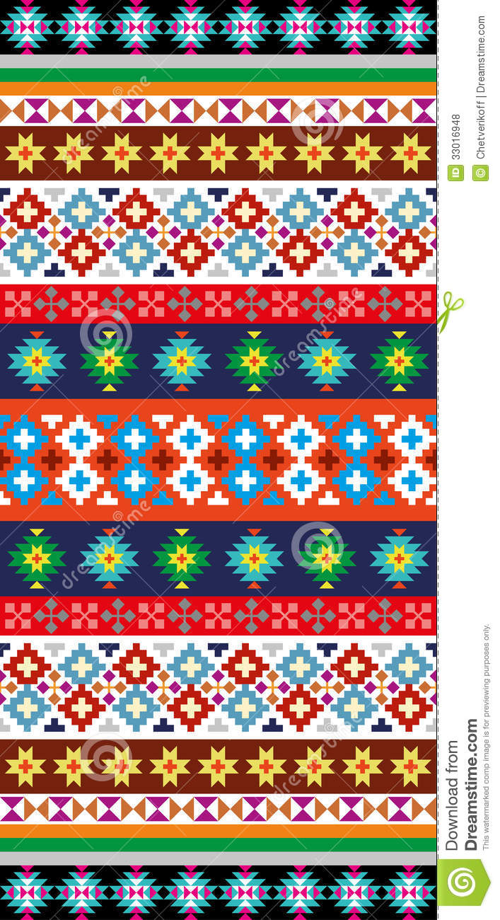 Native Aztec Pattern Stock Vector Image Of Aztec America