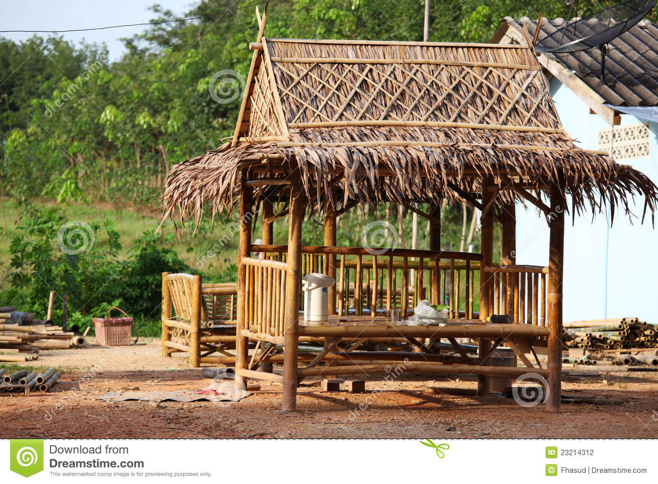 Native Bamboo Hut In Thai Style Stock Photo Image 23214312
