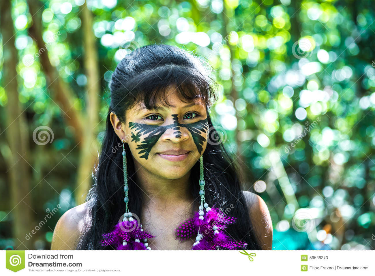 Indigenous amazon tribe girls