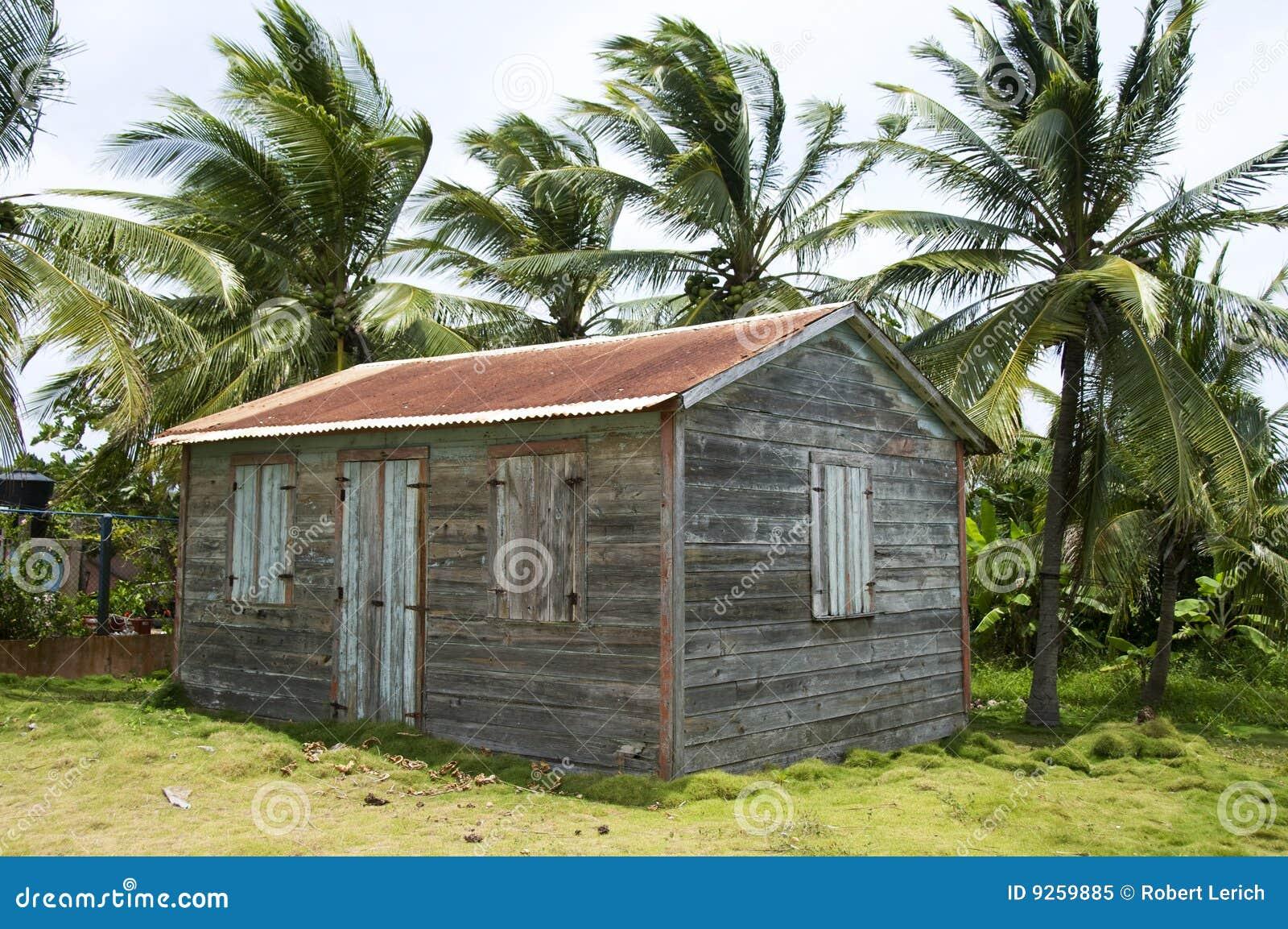 Native House Little Corn Island Stock Image Image Of