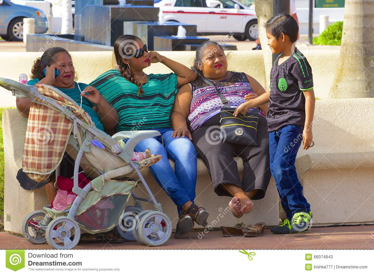 Native People In Cozumel, Mexico, Caribbean Editorial ...