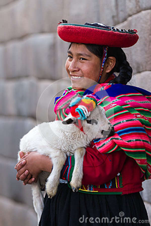 Native Peruvian Holding A Baby Lamb Editorial Stock Photo Image Of Cuzco Explore