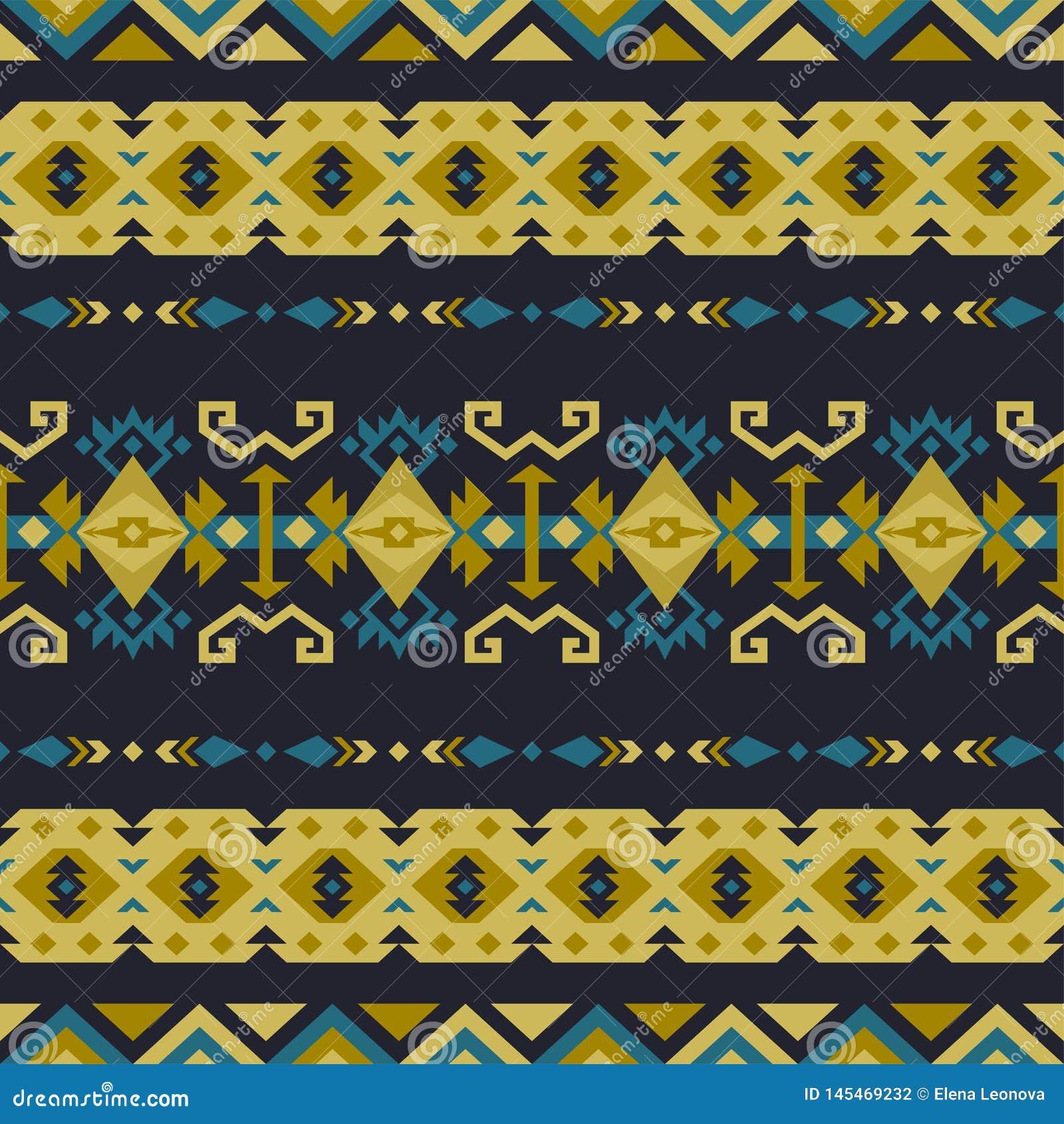 Native Southwest American, Indian, Aztec, Navajo seamless pattern. Geometric design