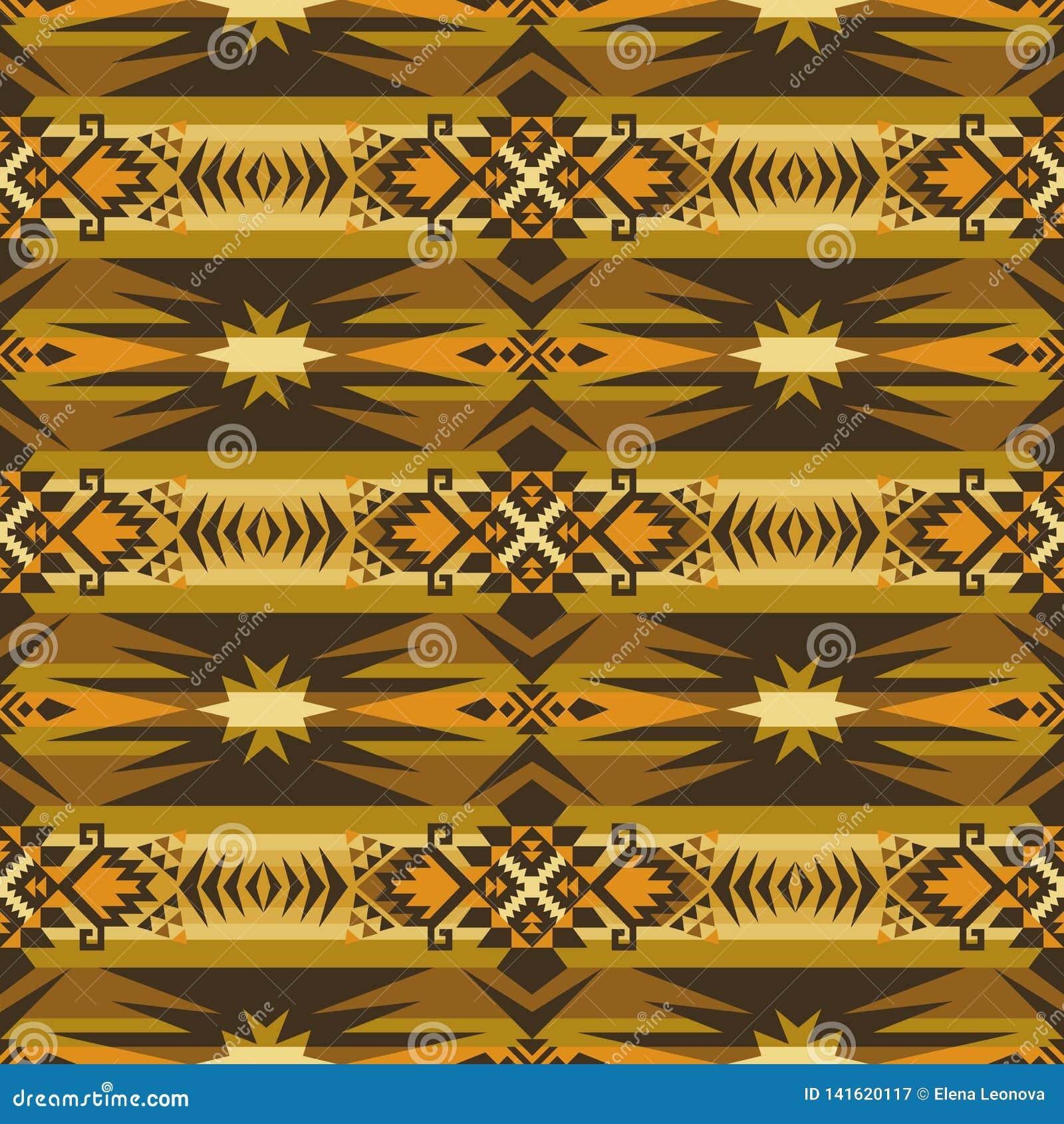 Native Southwest American Indian Aztec Navajo Seamless Pattern