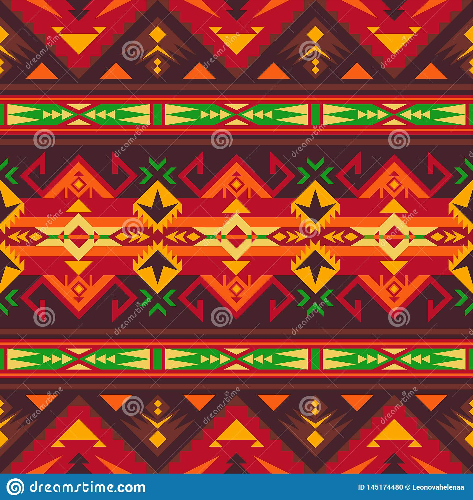 photo about Native American Designs Printable referred to as Indigenous Southwest American, Indian, Aztec, Navajo Seamless