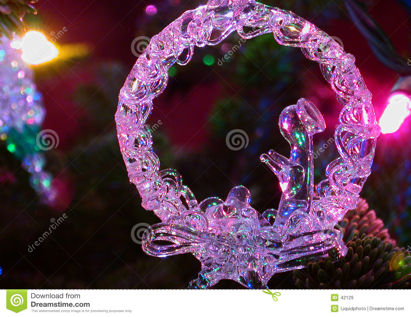Natividade do ornamento e das luzes do feriado