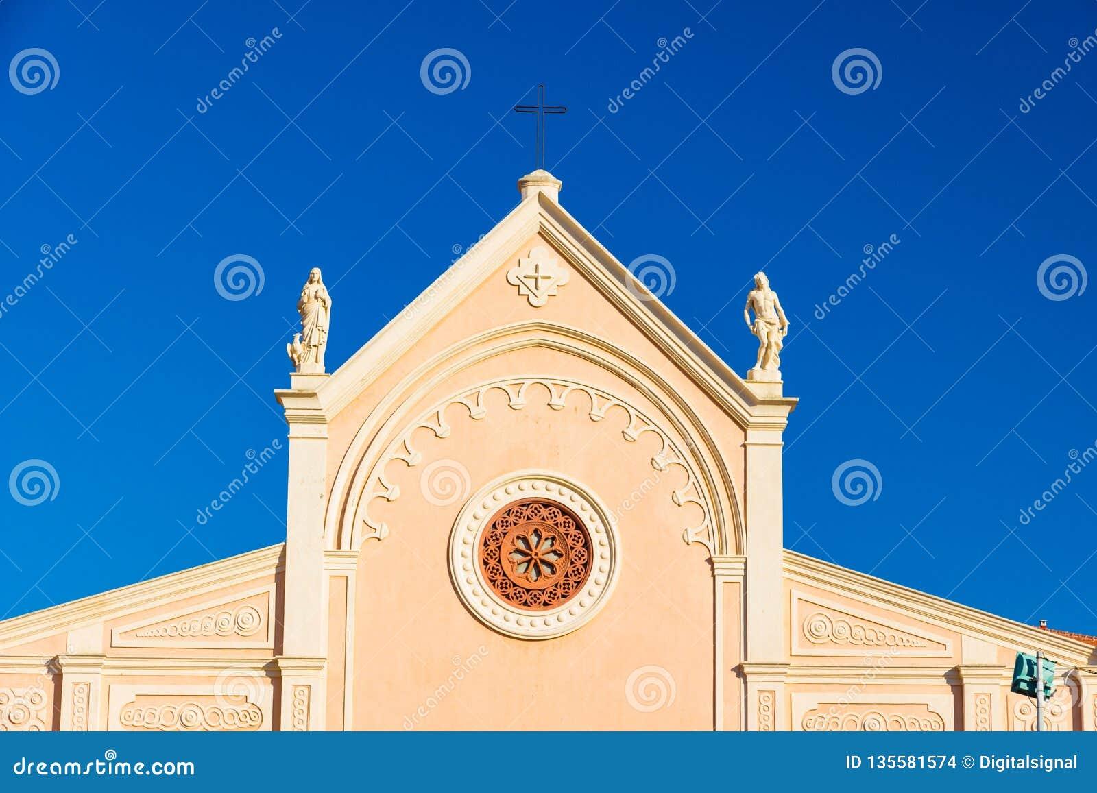 Nativita Beata Vergine Maria Nativity Blessed oskuld Mary Church i Portoferraio, Italien