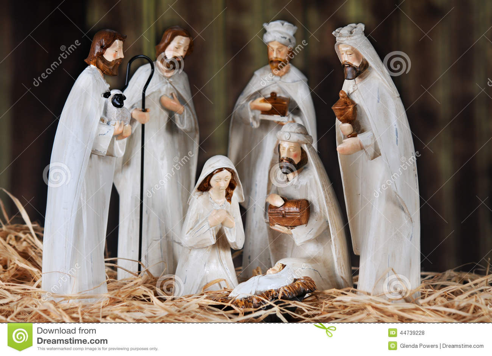 Nativity In A Barn Stock Photo Image Of Jesus Mary