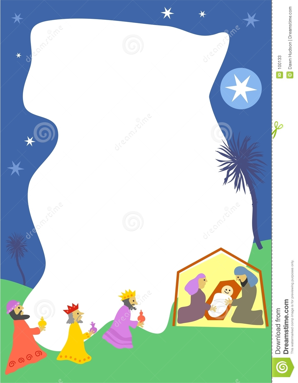 Nativity Border Stock Photos - Image: 100133
