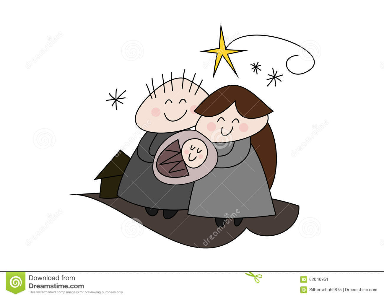 Nativity - Christmas Story - Birth Of Jesus Stock Illustration ...