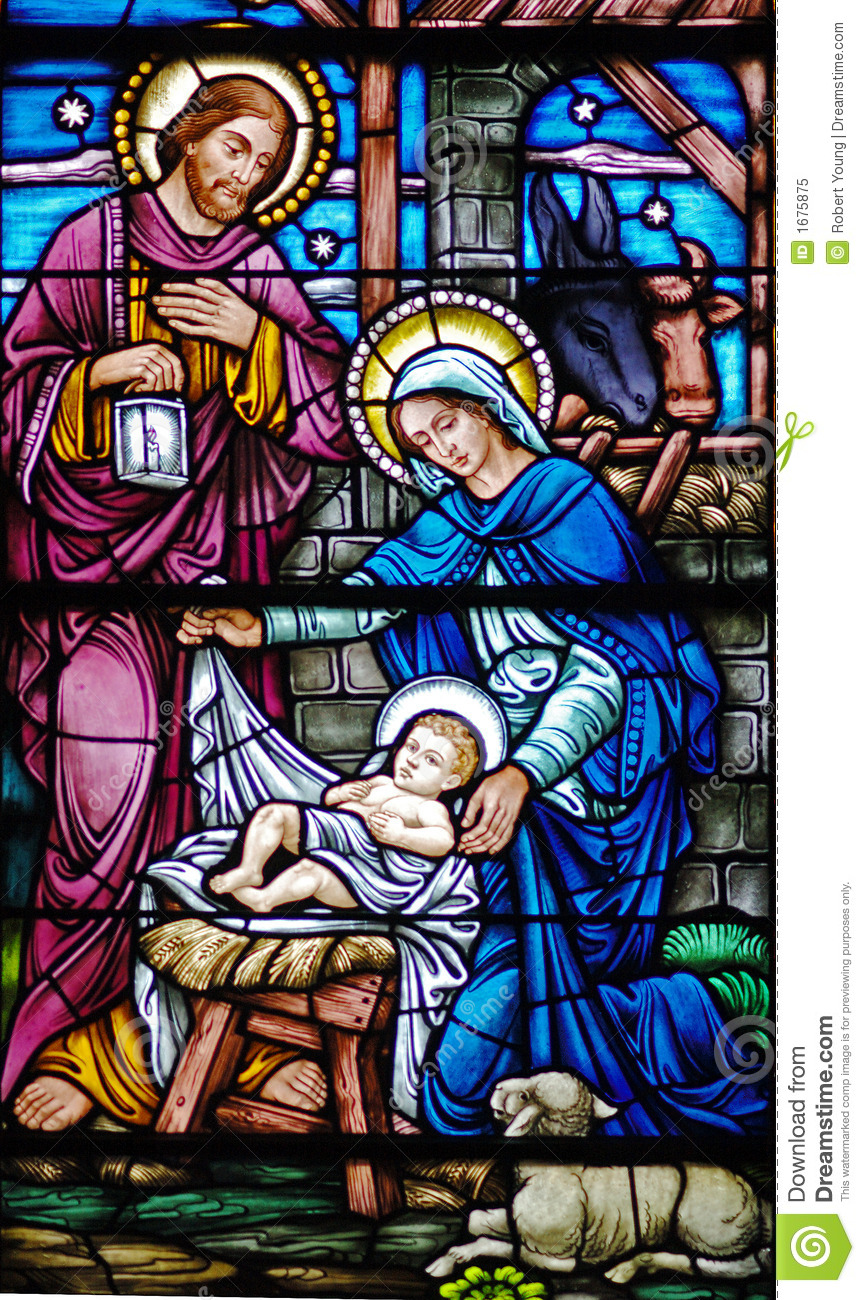 Nativity In Glass Royalty Free Stock Photo Image 1675875