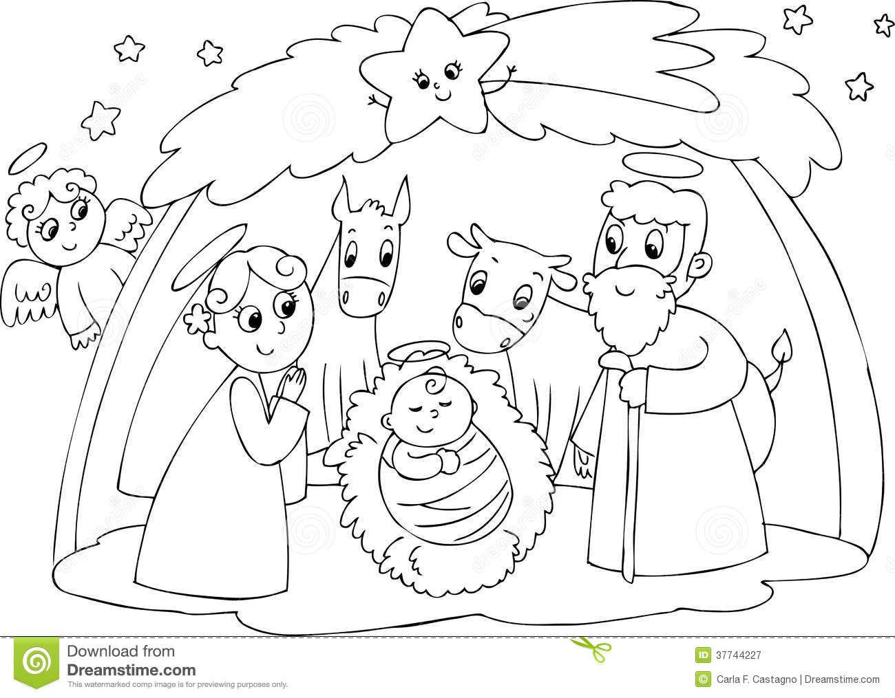 nativity mary joseph and jesus royalty free stock photography