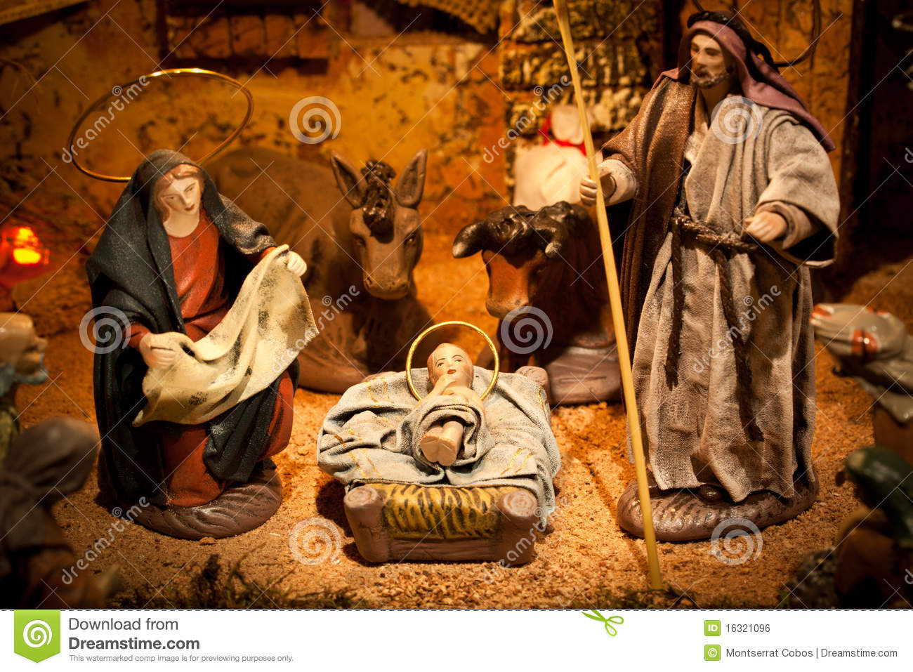 Nativity Scene Royalty Free Stock Image - Image: 16321096