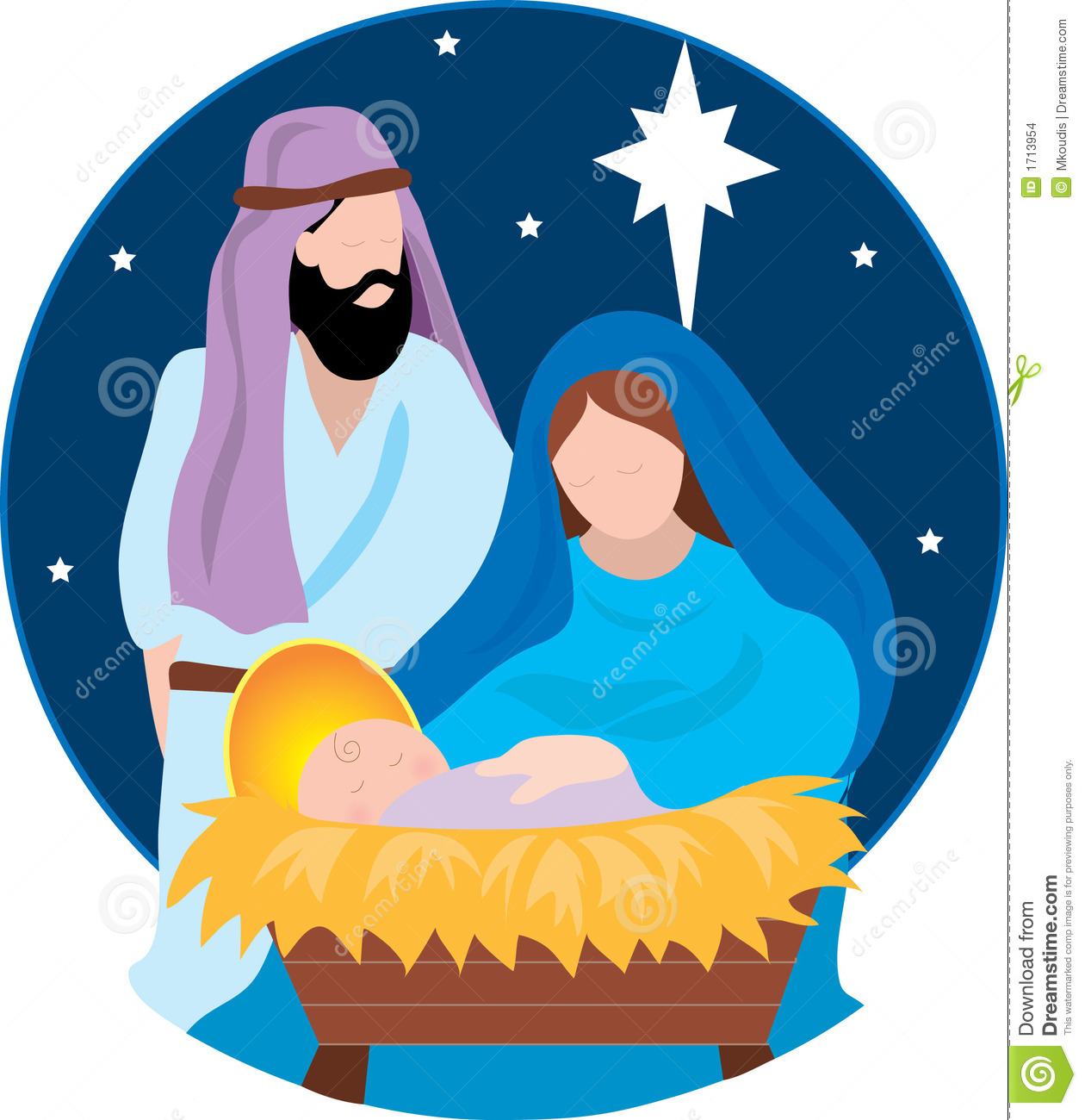 how to draw a jesus manger sence
