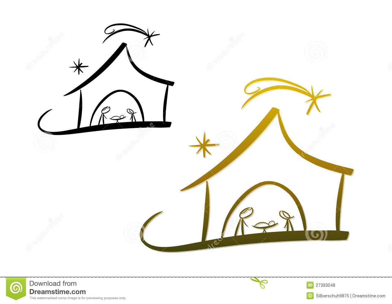 Line Drawing Software Free Download : Nativity scene royalty free stock photos image