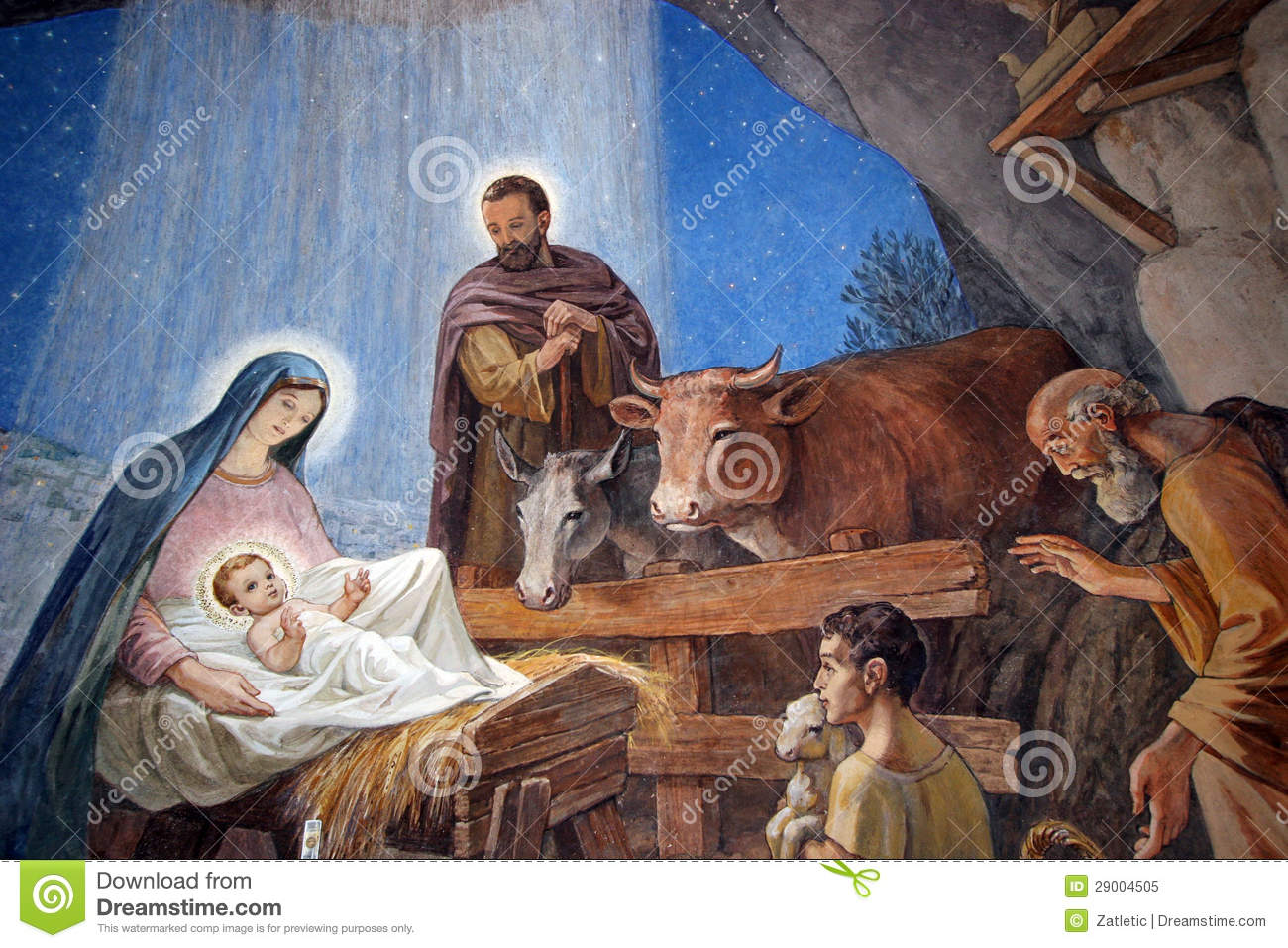 Nativity Scene Royalty Free Stock Photo - Image: 29004505