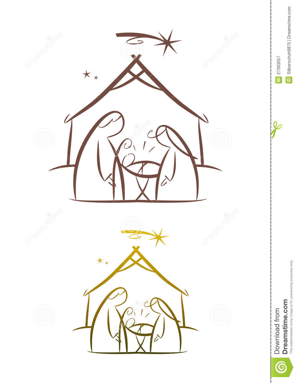 Line Art Nativity : Nativity scene father mother and child stock vector