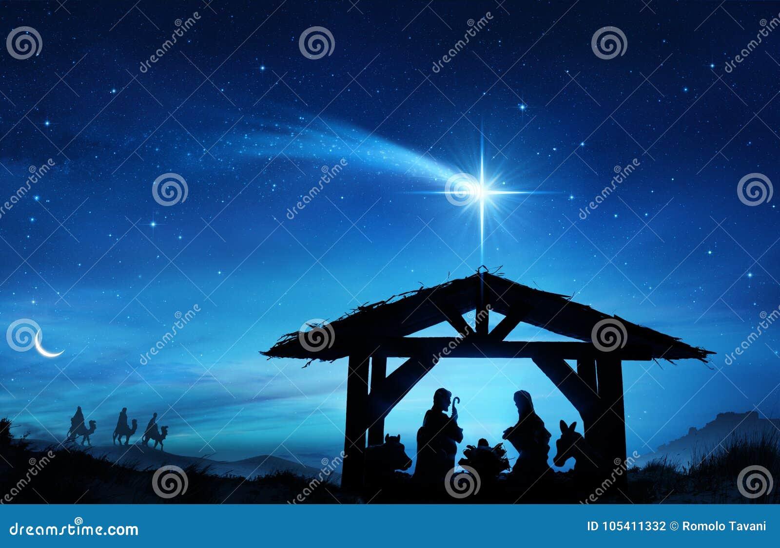 Nativity Scene With The Holy Family