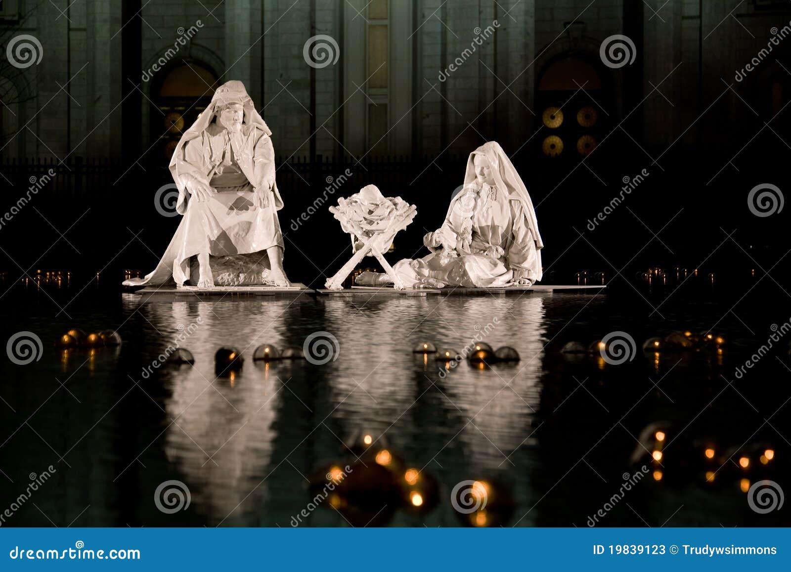 Nativity Scene By Mormon Temple Stock Photos Image 19839123