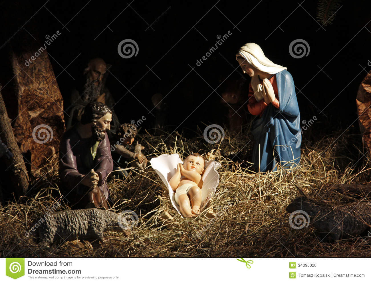 nativity scene stock photo image of manger infant happy 34095026