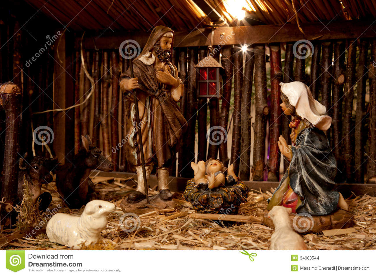Nativity Scene Stock Images - Image: 34903544