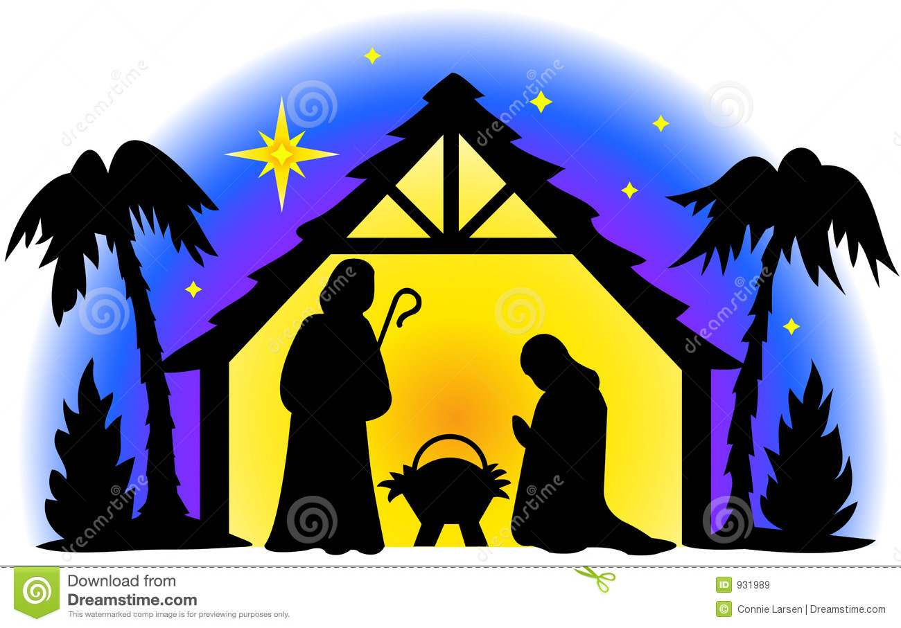 Illustration of the holy family in silhouette...I also have two ...