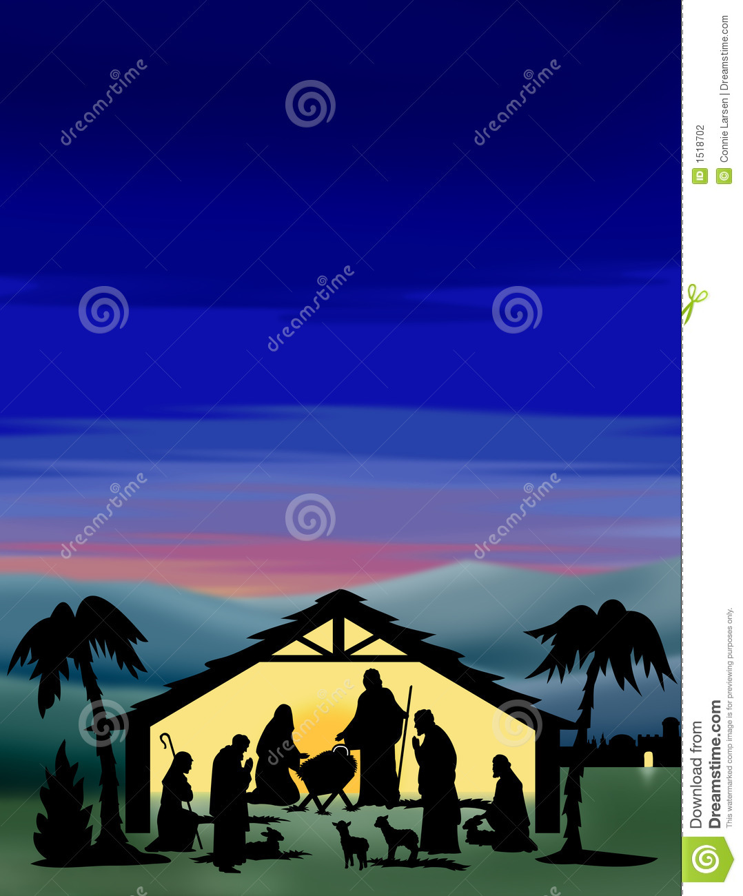 Nativity Silhouette Color