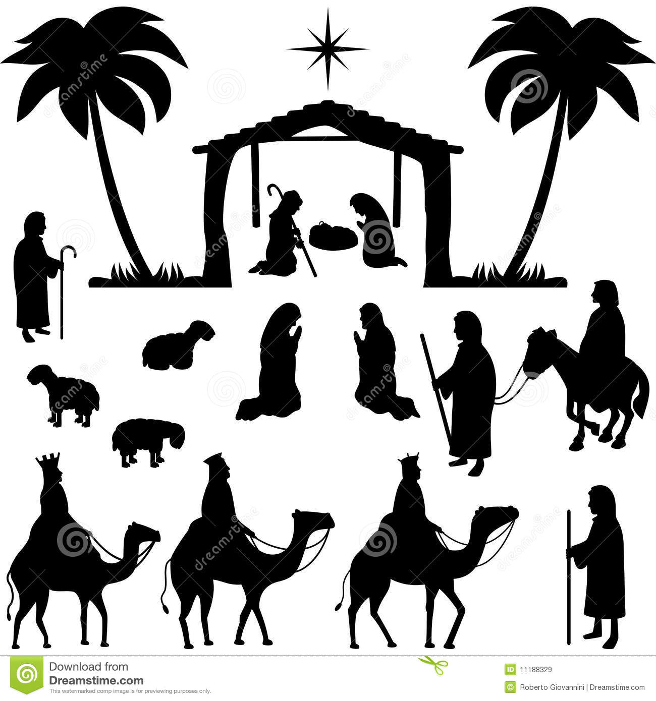 Nativity Silhouette/eps Royalty Free Stock Photos - Image: 1518678