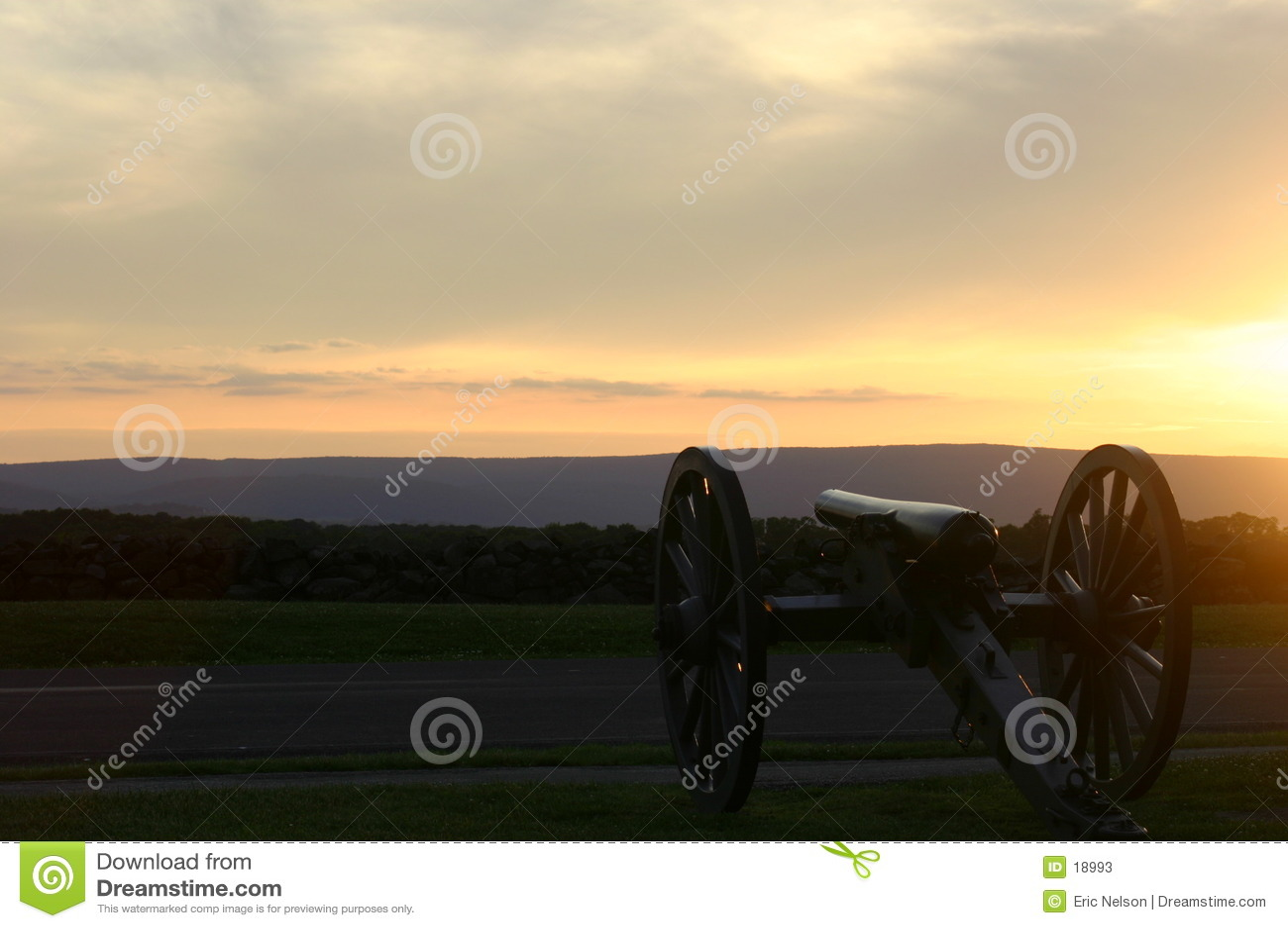 Natl gettysburg wojskowy park