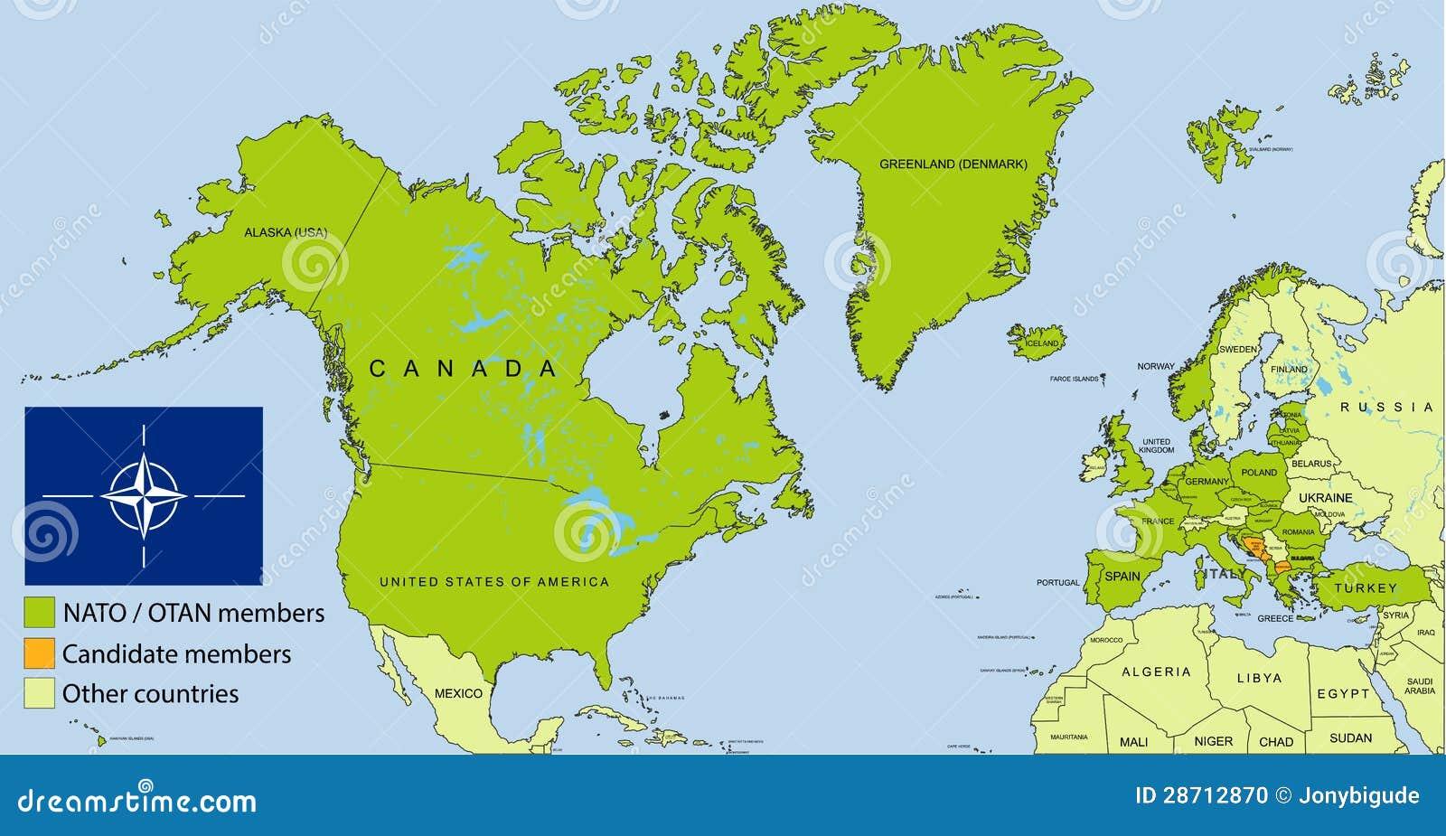 Nato Otan Organization Map Stock Illustration Illustration Of
