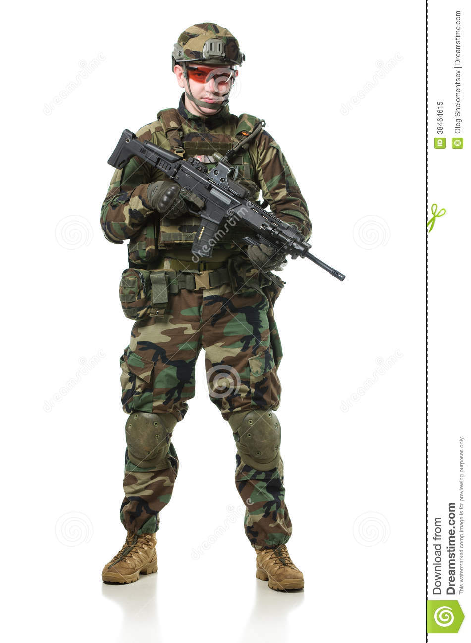 nato soldier in full gear royalty free stock photo