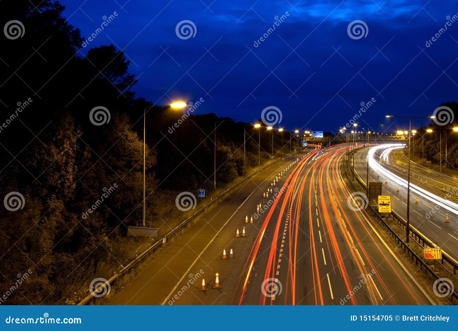 Natt för motorway m6