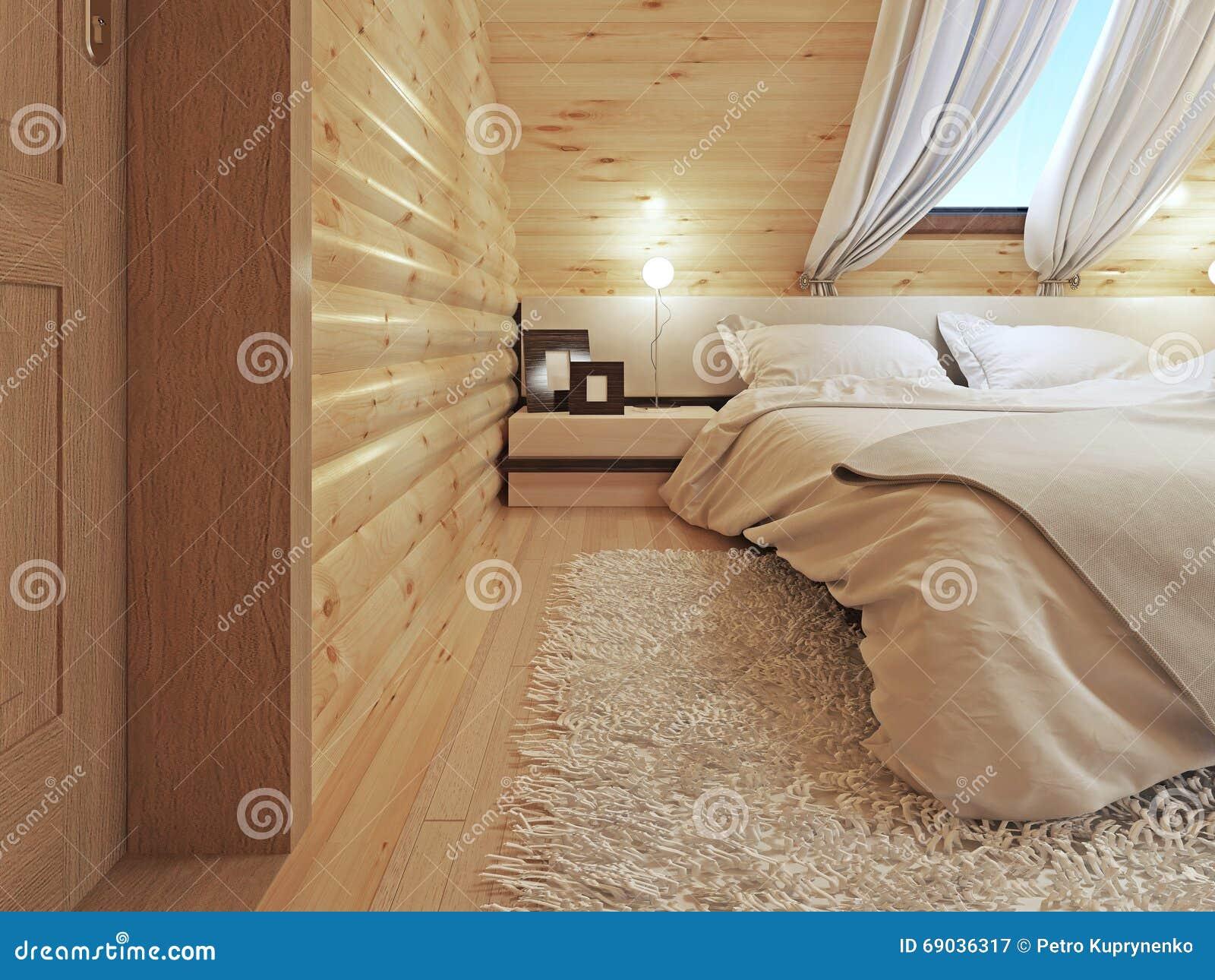 Nattduksbord med lampor och en golvlampa i det moderna sovrummet ...