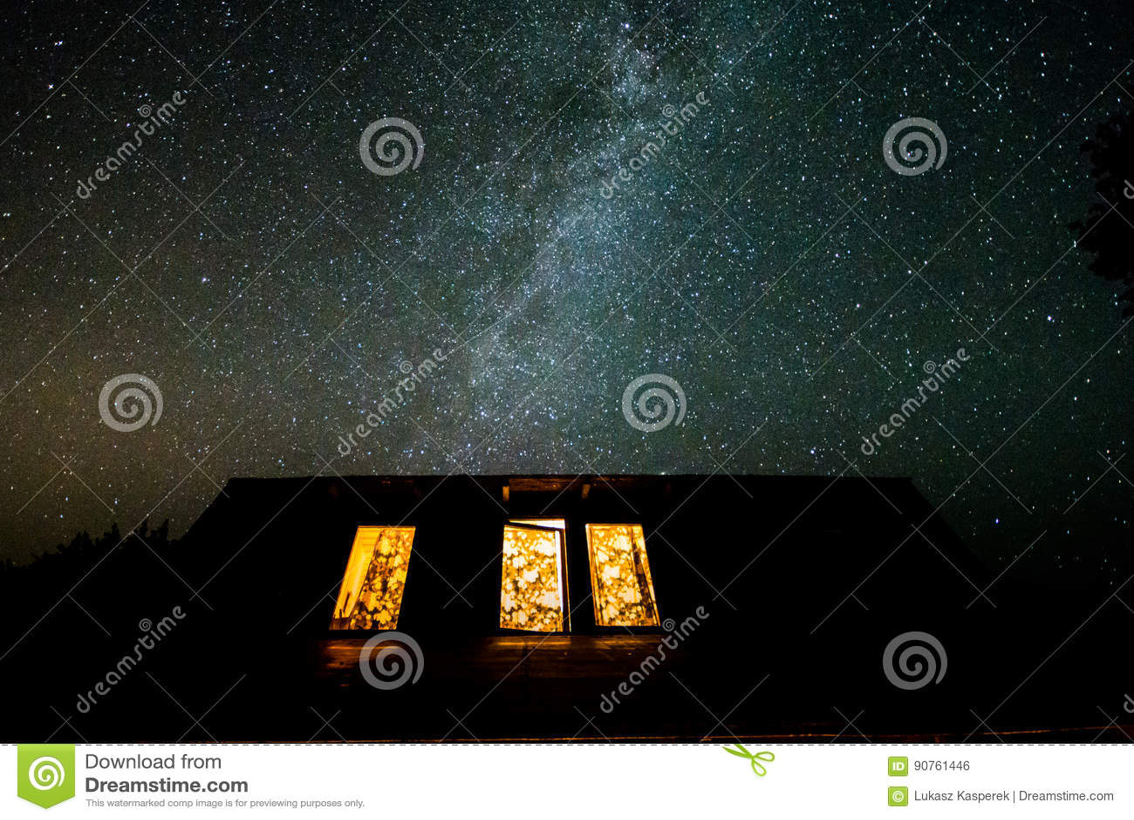 Natthimmel i Polen