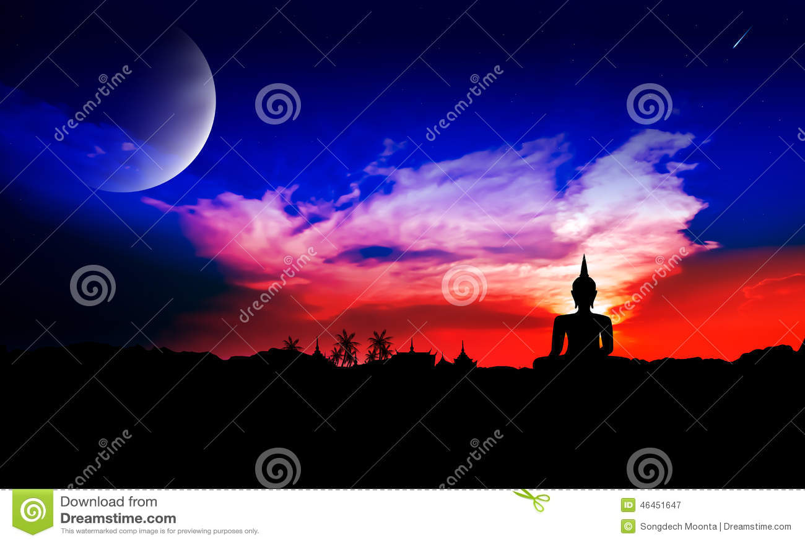 Nattplats med månen