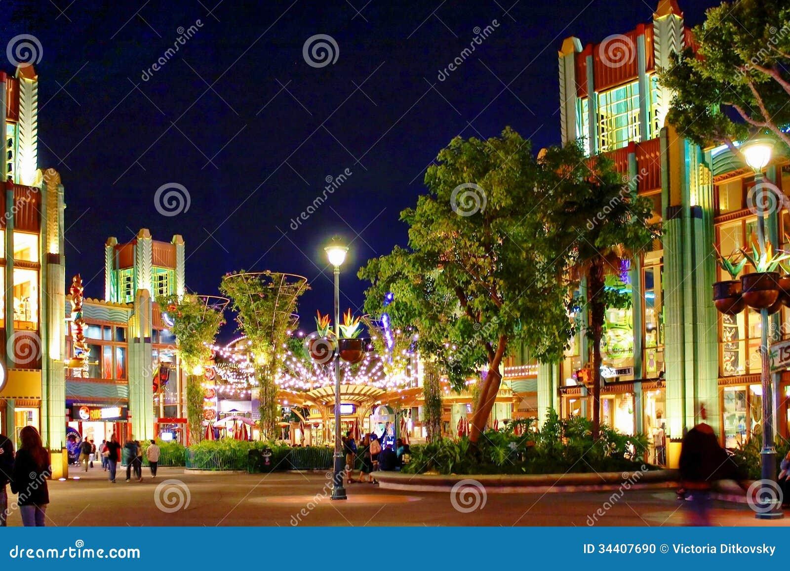 Nattplats på Disneyland, Kalifornien