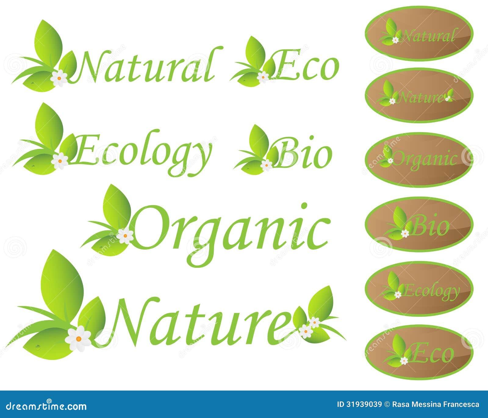 Natur- und Ökologieaufkleber