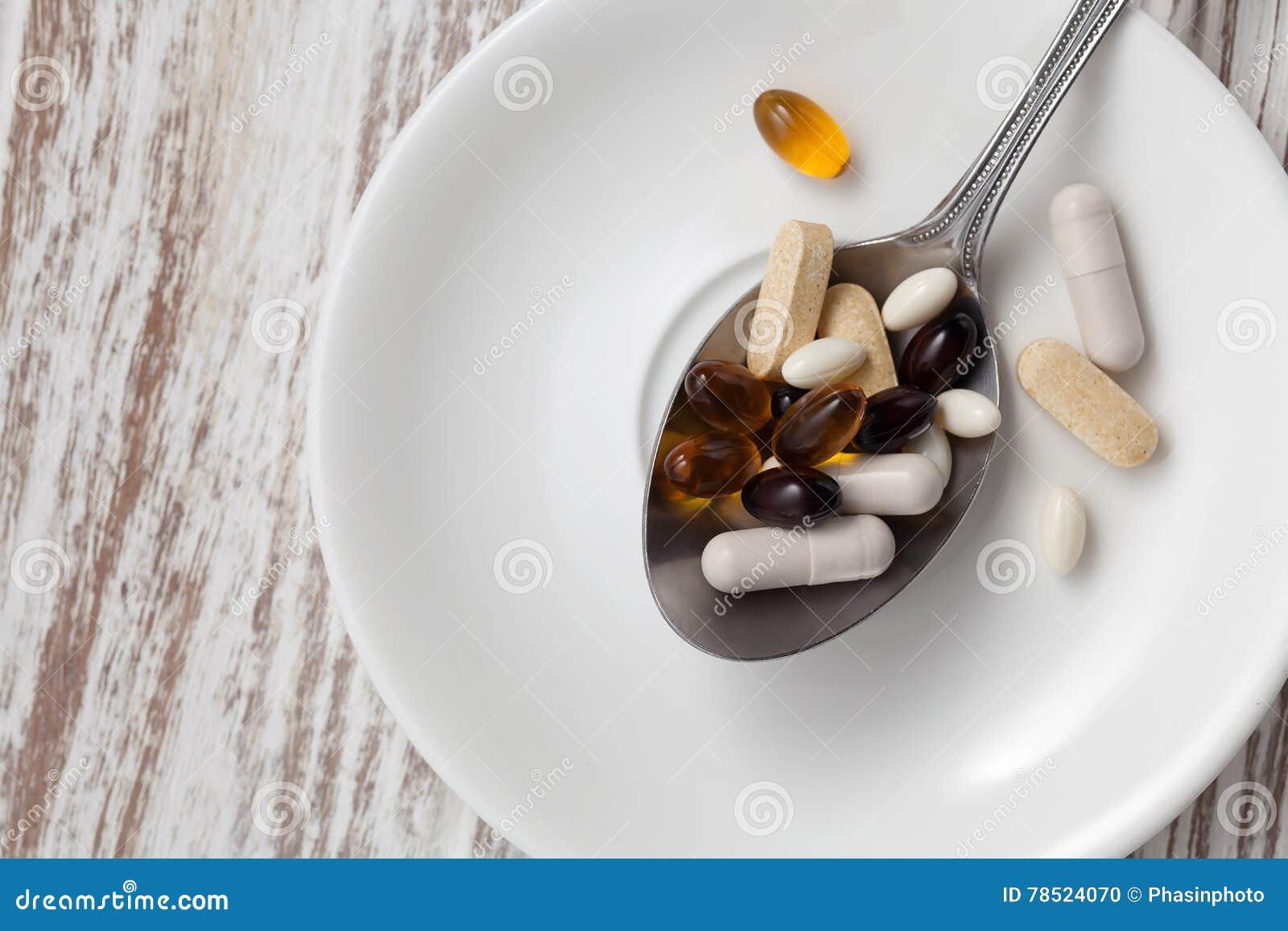 Natura morta dell antiossidante di supplemento della miscela