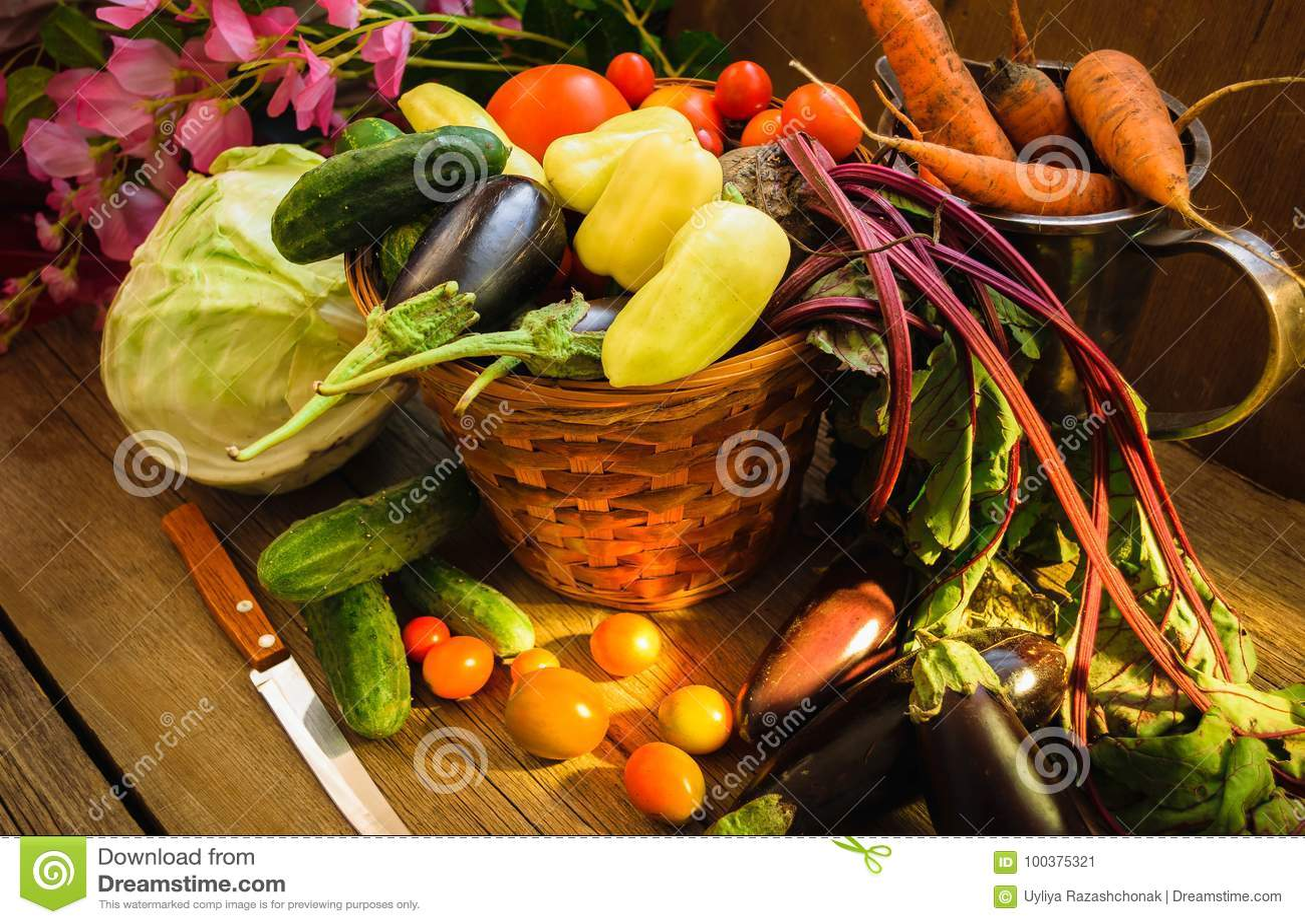 Natura morta di verdure del raccolto