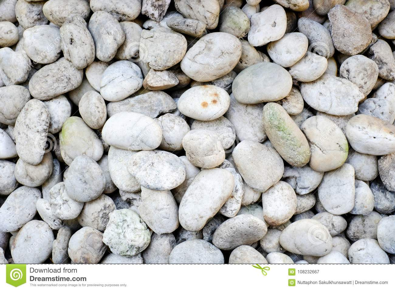 Natural abstract smooth round pebbles sea texture background