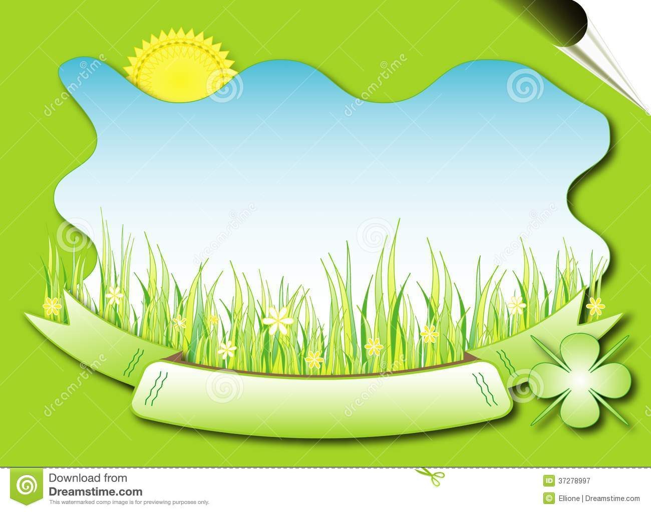 Natural Background Vector Royalty Free Stock Photography