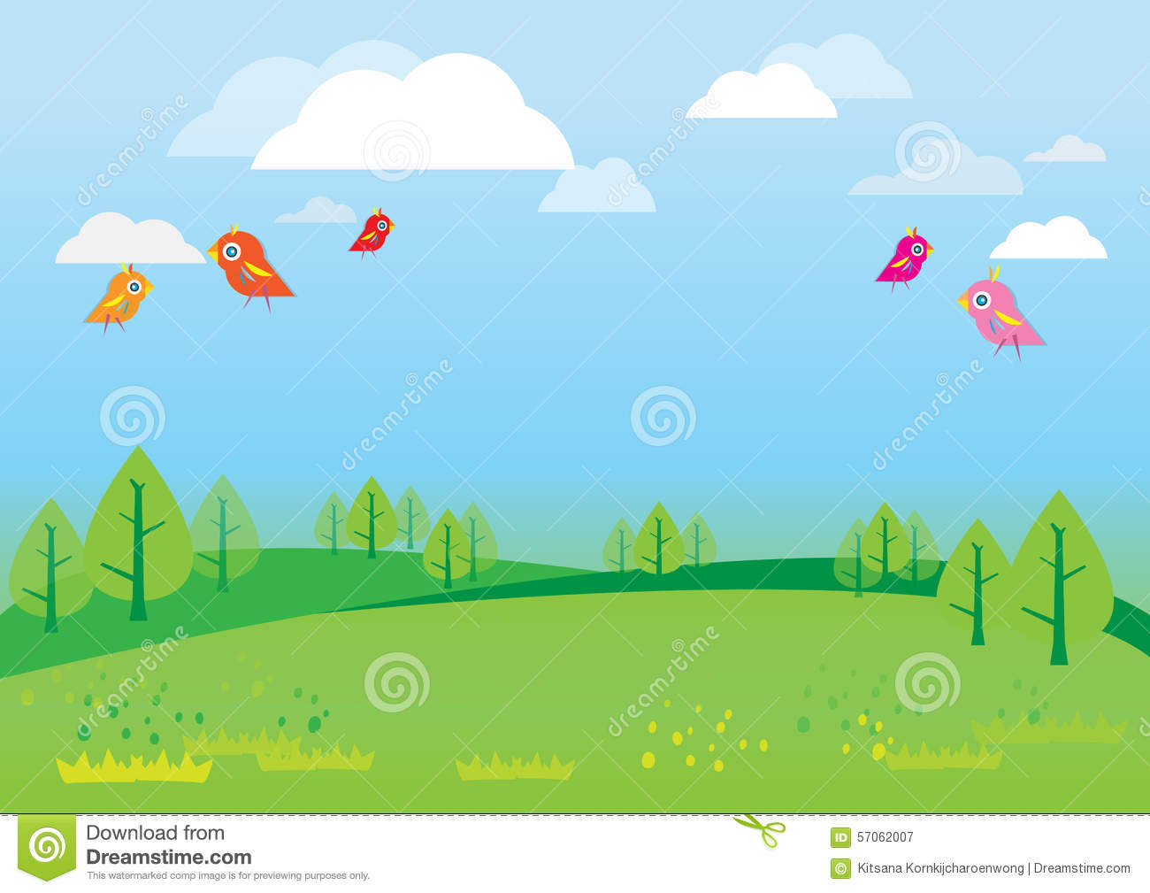 Natural Background For Kids Vector Stock Vector - Image ...