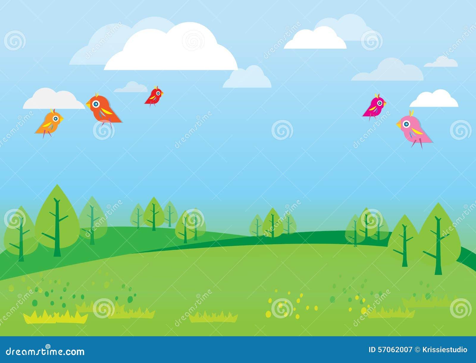 Natural Background For Kids Vector