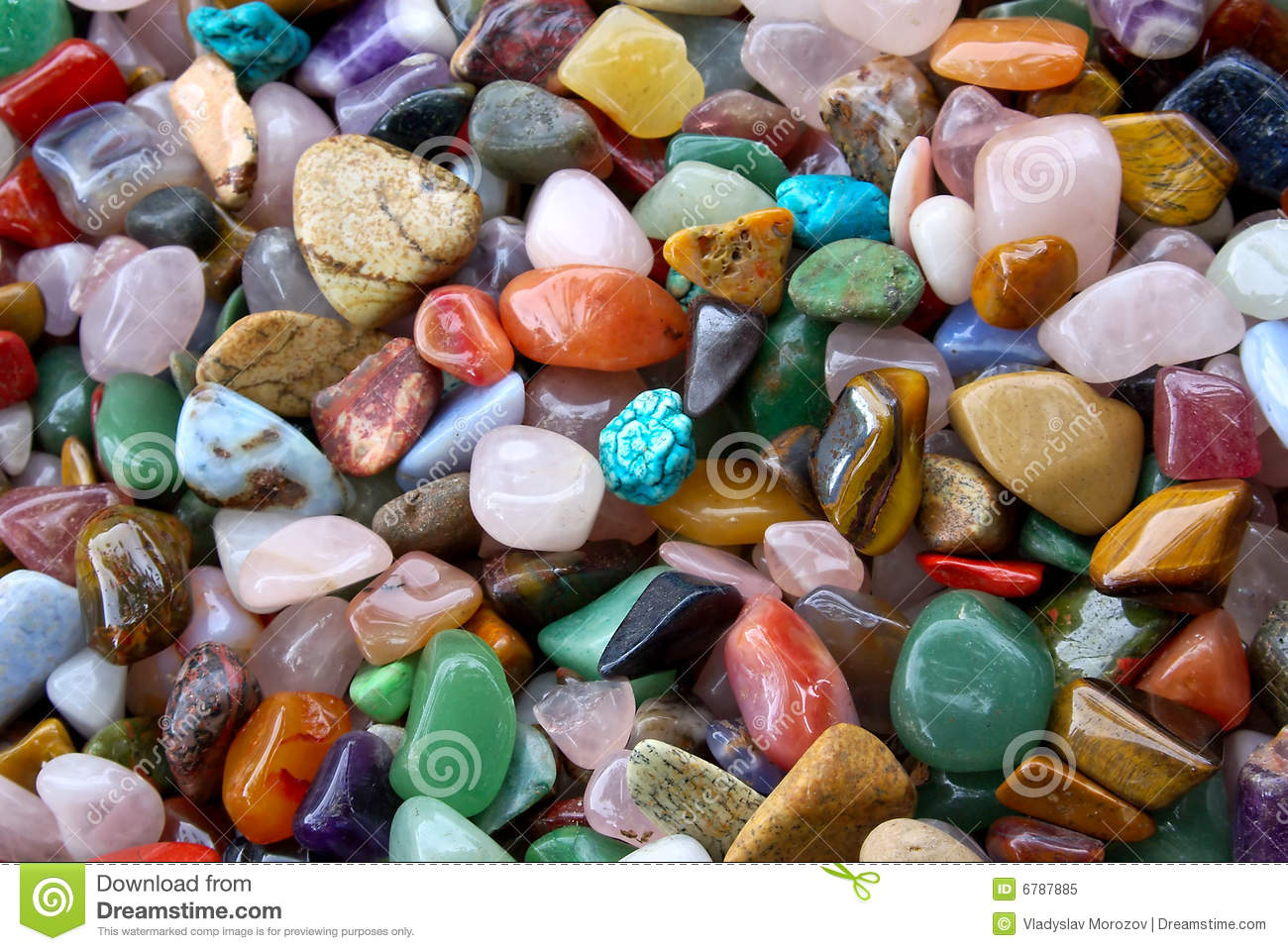 Natural Background Pile Of Semi Precious Stones Stock Image ...