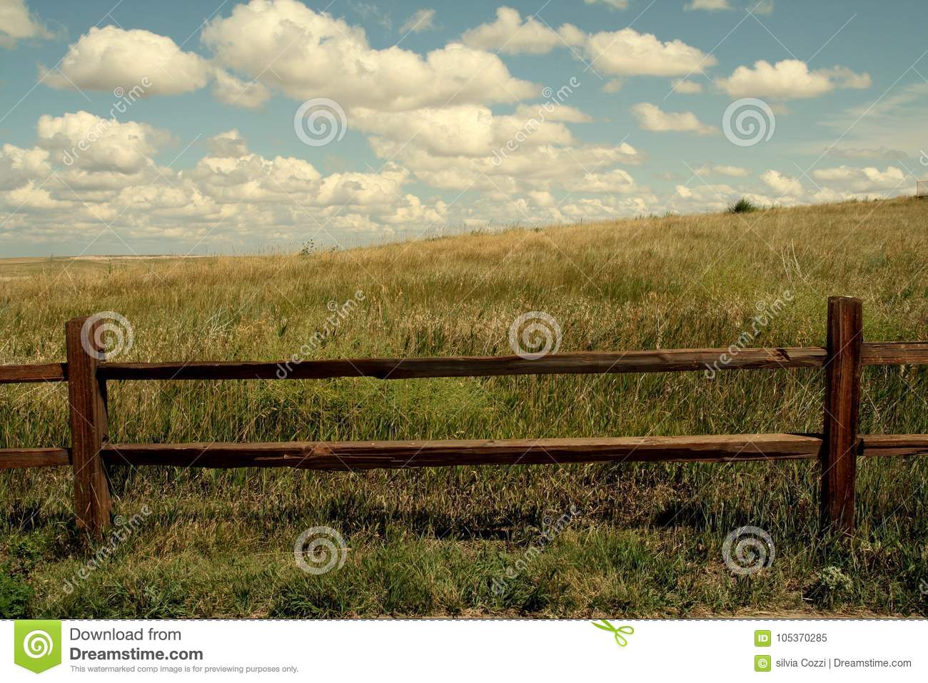 Prairie Fence Background Wallpaper Stock Image